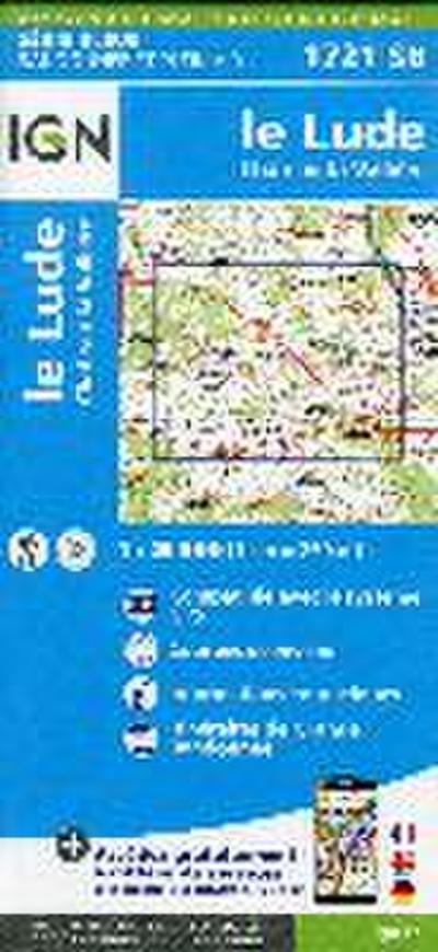 IGN Karte, Serie Bleue Le Lude. Château-la-Vallière