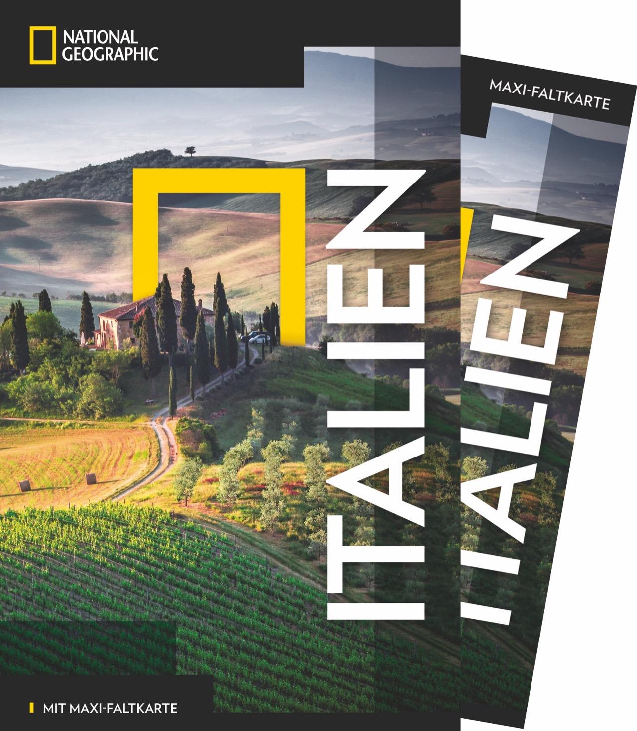 Tim Jepson NATIONAL GEOGRAPHIC Reiseführer Italien mit Maxi-Faltkarte