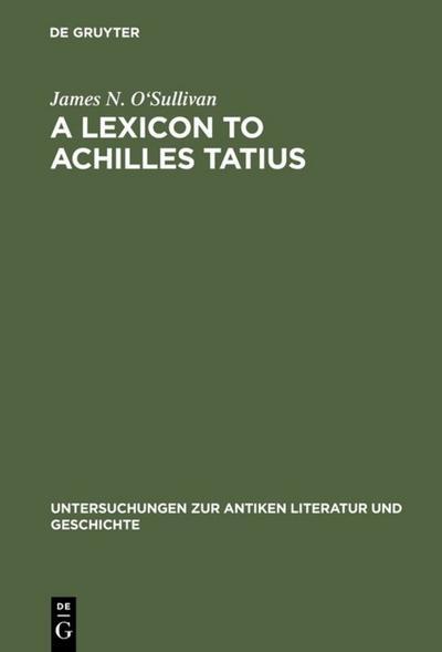 A Lexicon to Achilles Tatius