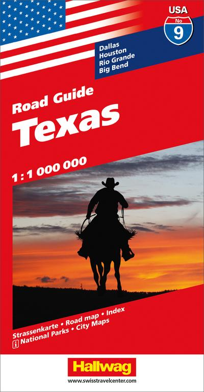 Hallwag USA Road Guide 09 Texas 1 : 1.000.000