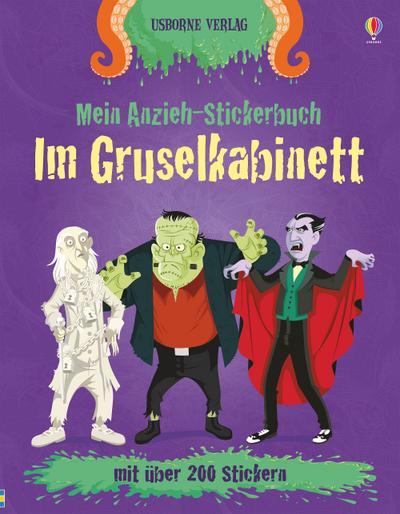 Mein Anzieh-Stickerbuch: Im Gruselkabinett