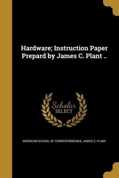 HARDWARE INSTRUCTION PAPER PRE