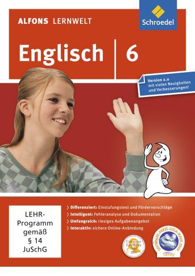 Alfons Lernwelt Lernsoftware Englisch 6. DVD-ROM für Windows 7; Vista; XP und Mac