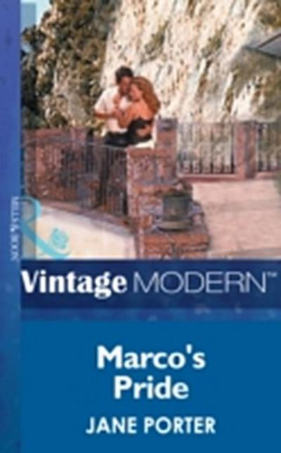 Marco's Pride (Mills & Boon Modern)
