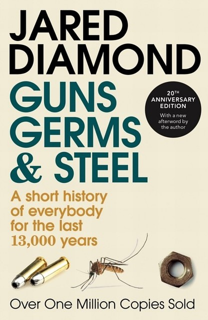 a review of the book guns germs and steel by jared diamond After warmly praising my book guns, germs, and steel: the fates of  jared  diamond's letter restates his argument more concisely than i.
