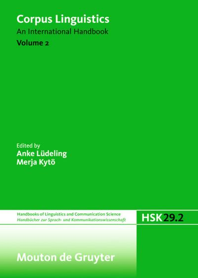 Corpus Linguistics. Volume 2