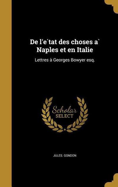 FRE-DE LE TAT DES CHOSES A NAP