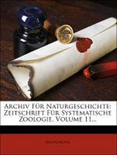 Archiv für Naturgeschichte.