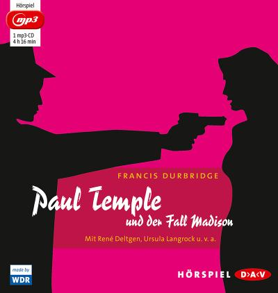 Paul Temple und der Fall Madison: Hörspiel mit René Deltgen, Ursula Langrock u.v.a. (1 mp3-CD)