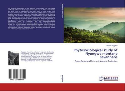 Phytosociological study of Nyungwe montane savannahs
