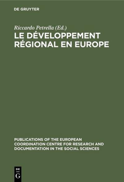 Le développement régional en Europe