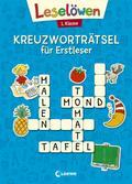 Leselöwen Kreuzworträtsel für Erstleser - 1. Klasse (Blau)