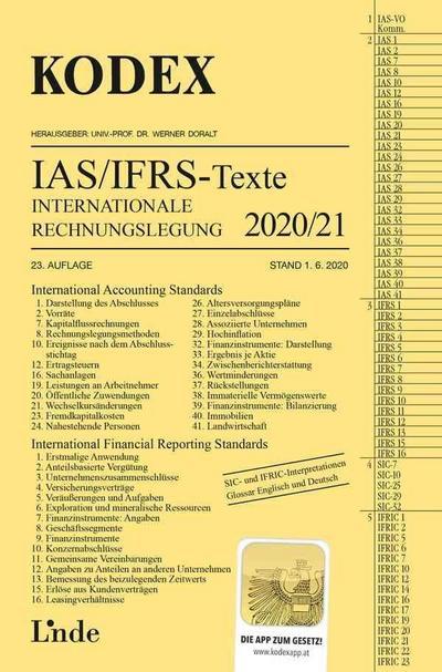 KODEX Internationale Rechnungslegung IAS/IFRS - Texte 2020/21