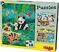 Puzzles Tierfamilien. 3 Motive