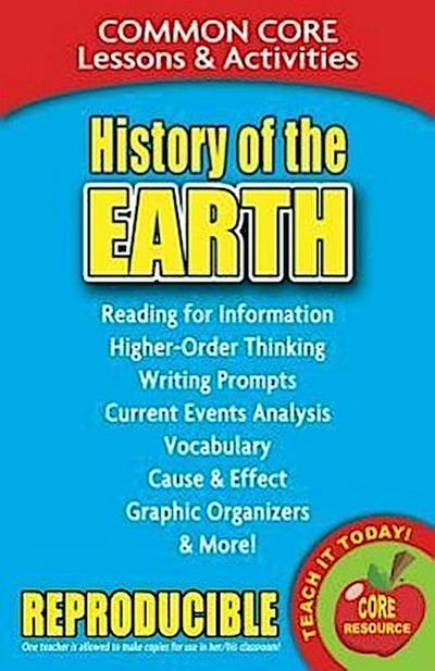 History of the Earth: Common Core Lessons & Activities