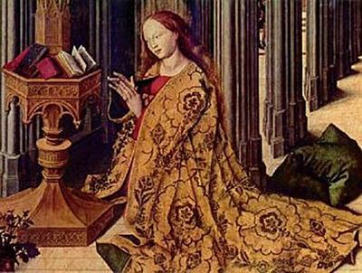 Barthélemy d' Eyck - Verkündigungsaltar, Mitteltafel: Verkündigung, Detail - 200 Teile (Puzzle)