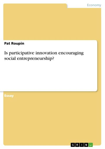 Is participative innovation encouraging social entrepreneurship?