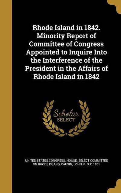 RHODE ISLAND IN 1842 MINORITY