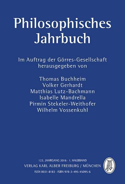 Philosophisches Jahrbuch 123/I