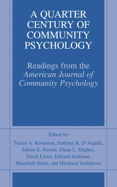 Quarter Century of Community Psychology