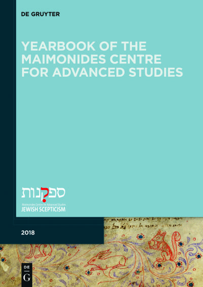 Yearbook of the Maimonides Centre for Advanced Studies. 2018