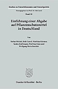 Einführung einer Abgabe auf Pflanzenschutzmittel in Deutschland