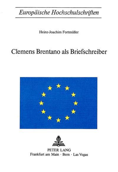 Clemens Brentano als Briefschreiber