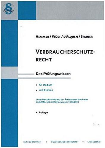 Karl E. Hemmer , Verbraucherschutzrecht ,  9783861933427