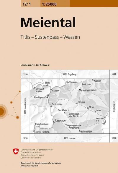 Swisstopo 1 : 25 000 Meiental