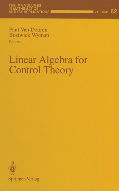 Linear Algebra for Control Theory