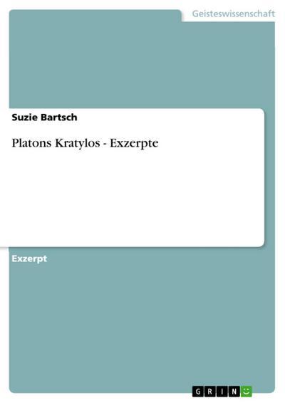 Platons Kratylos - Exzerpte