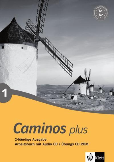 Caminos plus 1. Arbeitsbuch, Audio-CD, Übungs-CD-ROM