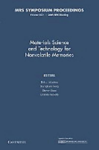 Materials Science and Technology for Nonvolatile Memories: Volume 1071