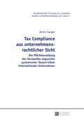 Tax Compliance aus unternehmensrechtlicher Sicht