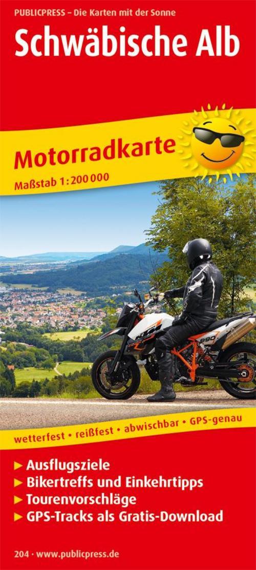 Motorradkarte Schwäbische Alb 1 : 200 000