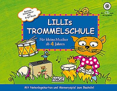 Lillis Trommelschule (+CD)für Trommel-Instrumente (Bongo/Cajon/