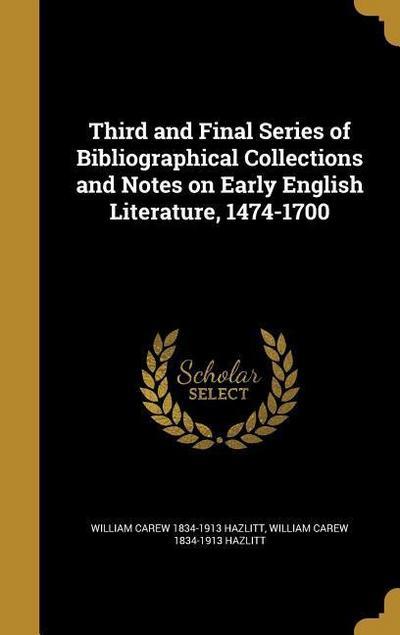 3RD & FINAL SERIES OF BIBLIOGR