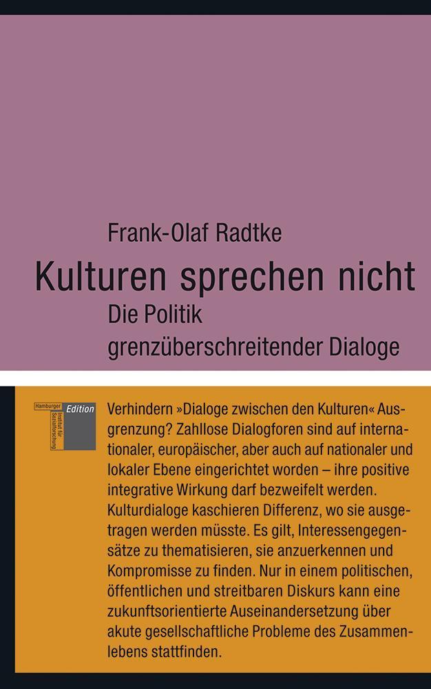 Kulturen sprechen nicht Frank-Olaf Radtke