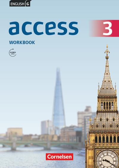 English G Access 3: 7. Schuljahr.Workbook mit Audios online
