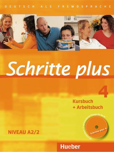 Schritte plus 4. Kursbuch + Arbeitsbuch mit Audio-CD zum Arbeitsbuch