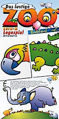 Das lustige Zoo Lern- und Legespiel Bastelbogen