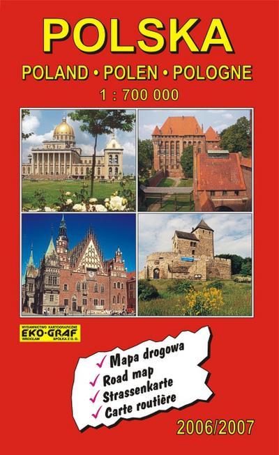 Polska, Poland, Polen, Pologne 1 : 700 000. 2006/2007