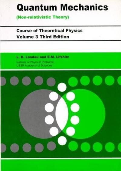 Quantum Mechanics Non-Relativistic Theory