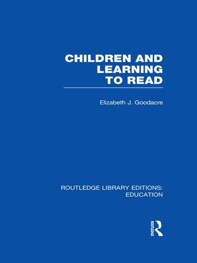 Children and Learning to Read (RLE Edu I)