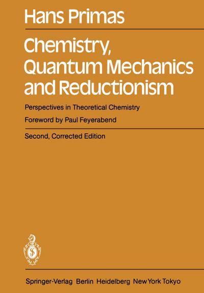 Chemistry, Quantum Mechanics and Reductionism