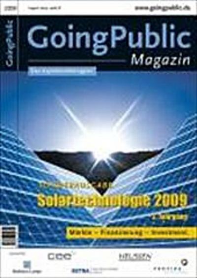 Solartechnologie 2009: Märkte - Finanzierung - Investment