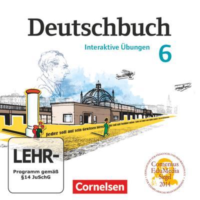 Deutschbuch, Gymnasium Östliche Bundesländer und Berlin 6. Schuljahr, Interaktive Übungen, CD-ROM