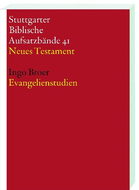Evangelienstudien, Ingo Broer