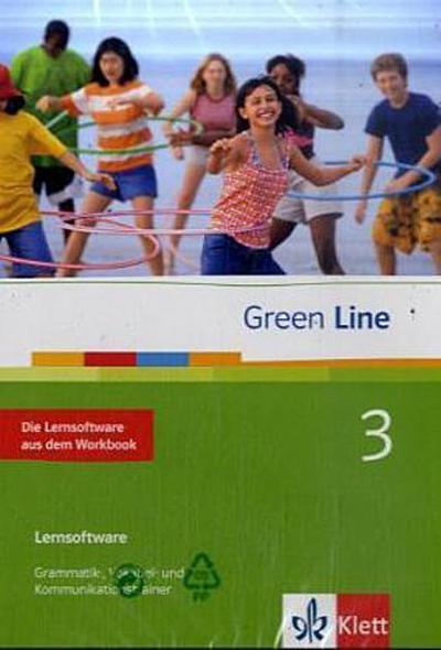 Green Line, Neue Ausgabe für Gymnasien, Bd.3 : Klasse 7, Die Lernsoftware aus dem Workbook, 1 CD-ROM Grammatik-, Vokabel- und Kommunikationstrainer. Einzelplatzlizenz. Windows 98, ME, NT, 2000, XP, Vista