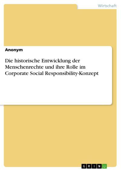 Die historische Entwicklung der Menschenrechte und ihre Rolle im Corporate Social Responsibility-Konzept